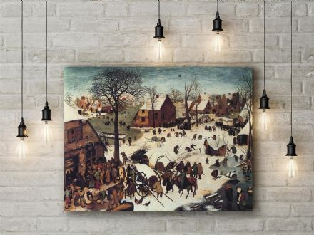 Pieter Bruegel the Elder: The Census at Bethlehem.  Fine Art Canvas.